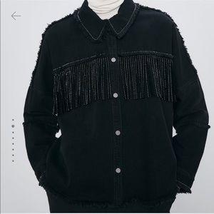 Shinny fringe jacket (new with tags)